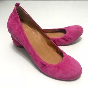 J. Crew Pink Suede Leather Ballet Slip ons